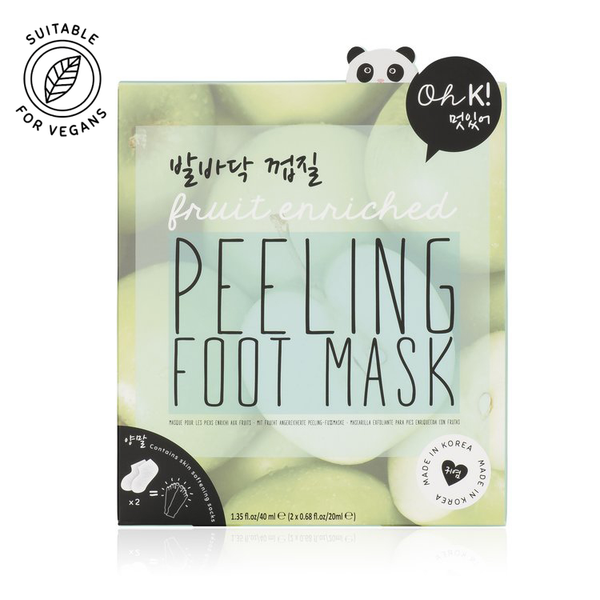 Peeling foot mask with natural fruit acids