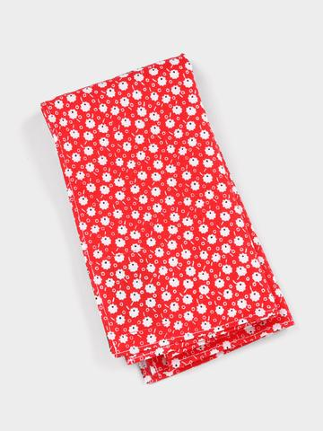 Red Poppies Pocket Square
