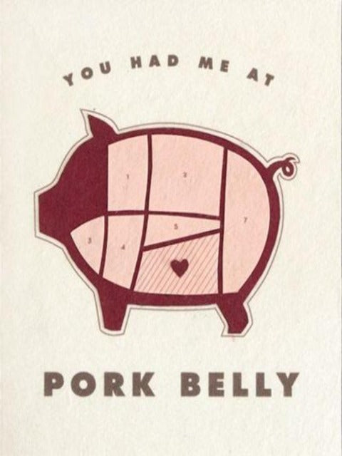 Handcrafted Cards: Pork Belly