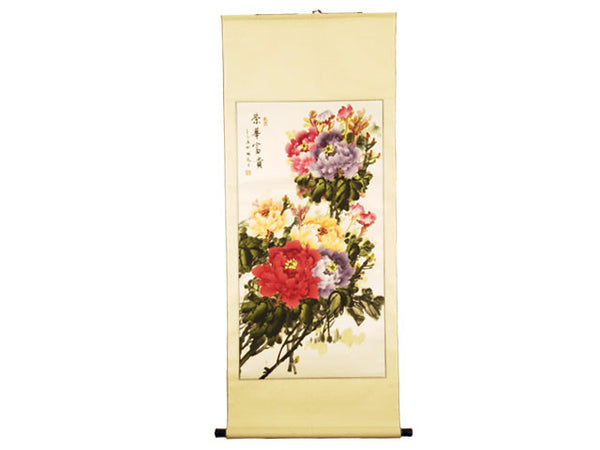 Hand-Painted Chinese Scrolls - Flowers