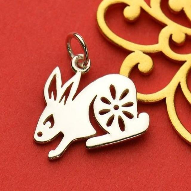 Sterling Silver Chinese Zodiac Charm: Rabbit