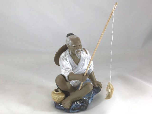 Old Fisherman Ceramic Display