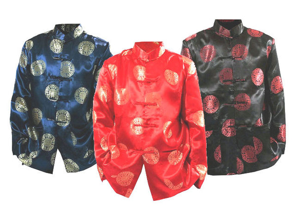 Longevity Design Brocade Mandarin Jacket