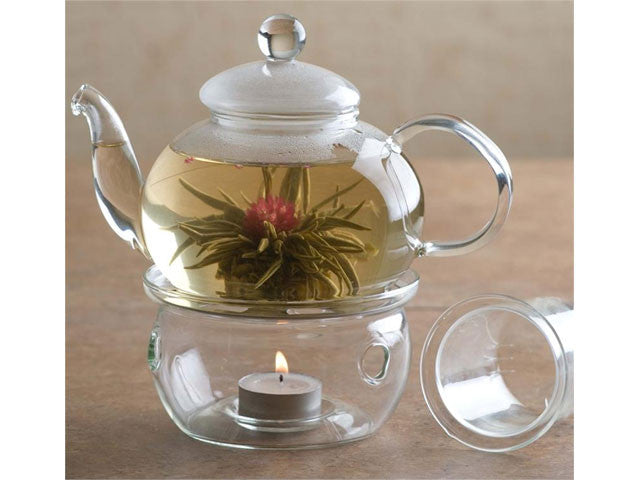 Glass Teapot with Warmer (Set)