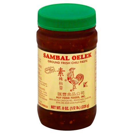 Jar of Sambal Oelek sauce