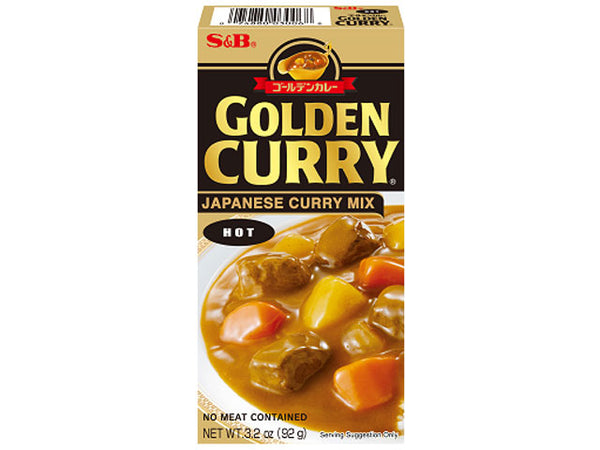 Box of Golden Curry Japanese curry mix (hot)