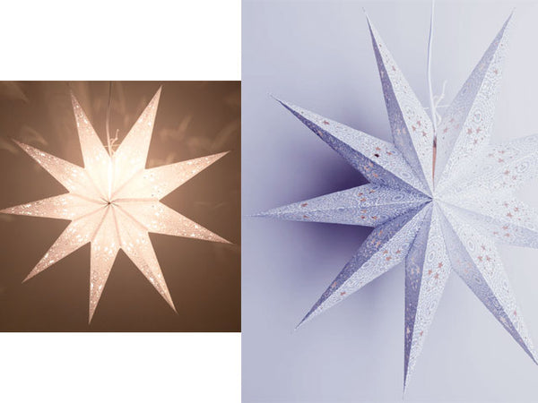 9-Point Paper Star Lantern Ornament