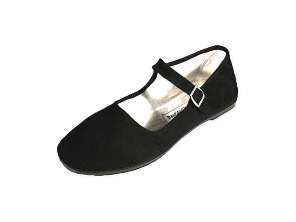 Basic and chic black mary jane shoe with comfy white lining