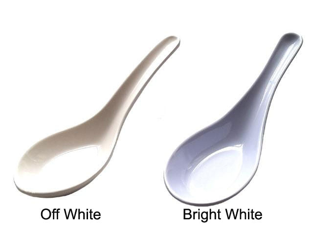 White Melamine Soup Spoon