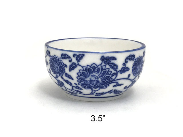 Blue Lotus & Vine Pattern - Bowl (**)