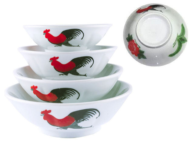 Rooster Design Flare Bowl *** ( Please check customer service for availability )