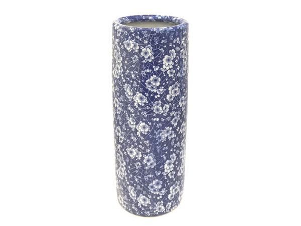 Blue & White Plum Blossom Design Cylinder Vase/Umbrella Holder