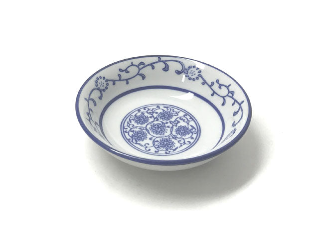 Blue Lotus & Vine Pattern - Sauce Dish ( Out of Stock )