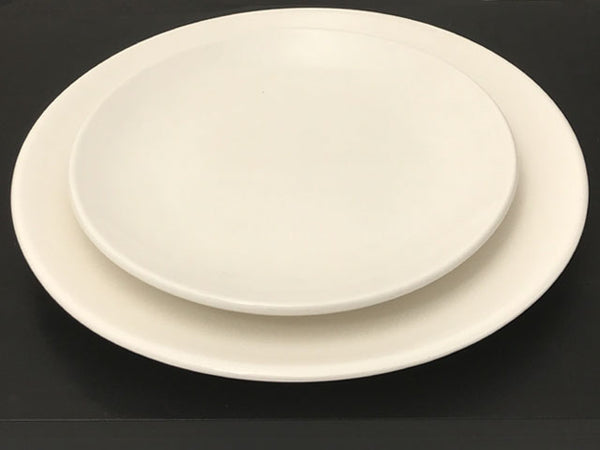Off White Ceramic Plate - Round