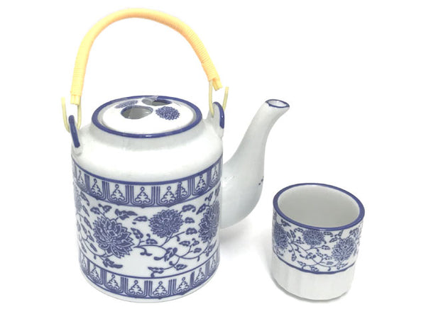 Blue Lotus & Vine Pattern Tea ware
