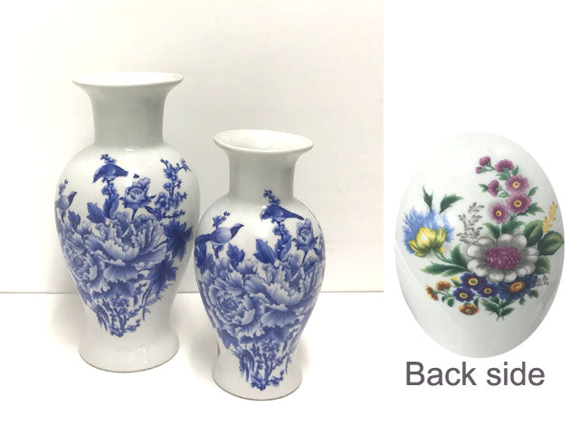 Birds and Floral Ceramic Vase
