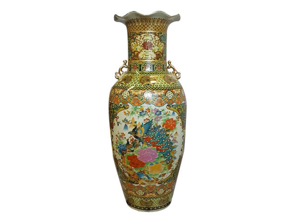 "Colorful Design Vase - 36"" Tall"