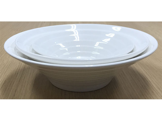 White Ceramic Bowl - Funnel Shape