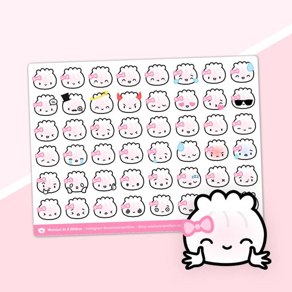 Wonton in a Million Planner Stickers: Steame Hagao Dumpling Emoji