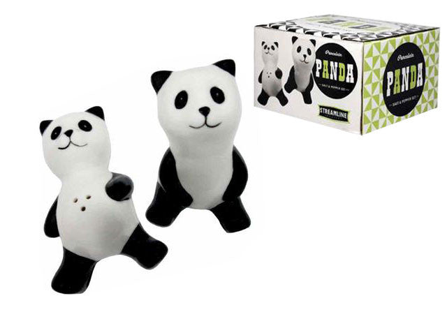 Porcelain Panda - Salt & Pepper Shakers