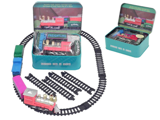 Mini Train Set in a Tin