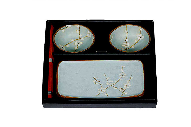 Spring Blossom Sushi Set for Two - Light Blue