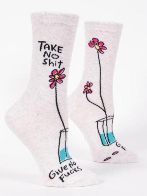 Women's Funny Socks: Take No Sh*t