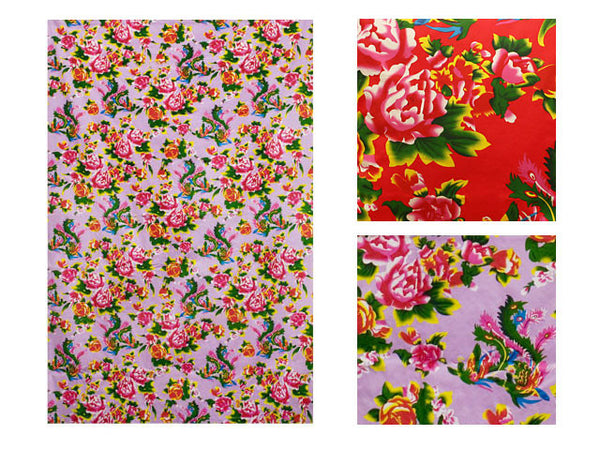 Peony Phoenix Print Cotton Table Cloth - 54 in. x 80 in.
