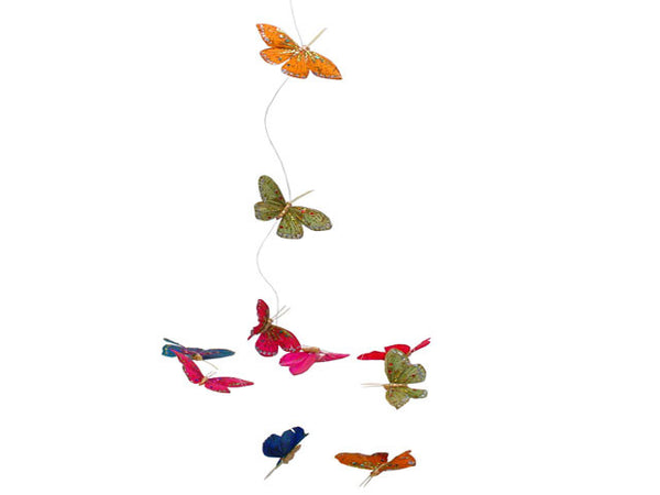 Multi-Color Feather Butterfly Garland