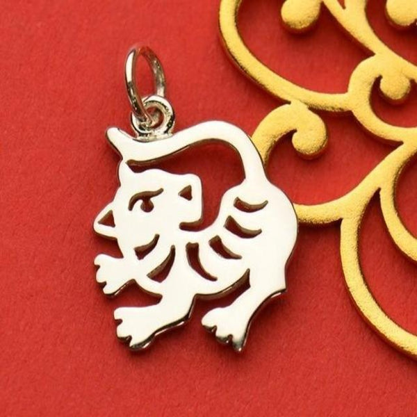 Silver tiger charm