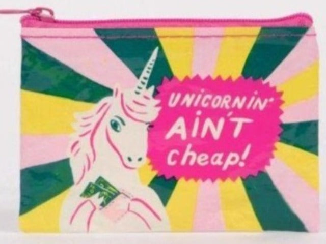 Nylon Coin Purse: Unicornin' Ain't Cheap
