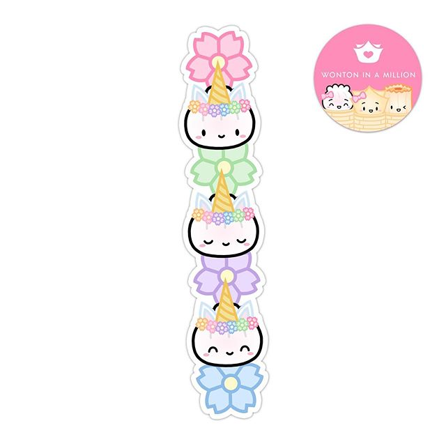 Dim Sum Sticker: Unicorn Steamie Totem