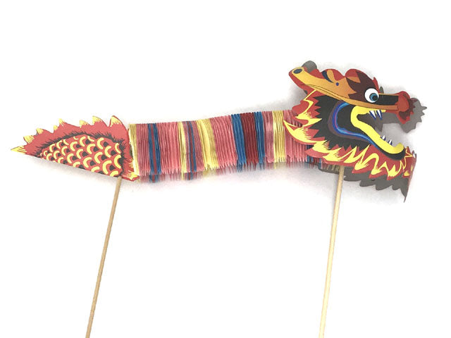 Fiesta Colored Paper Accordion Dragon Pick