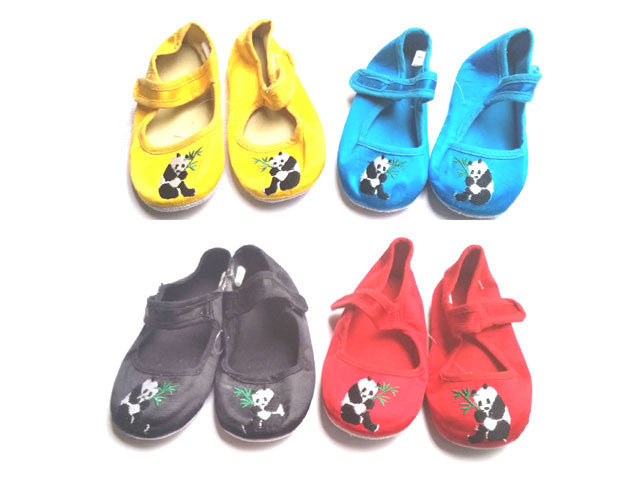 Panda Embroidered Children Shoes