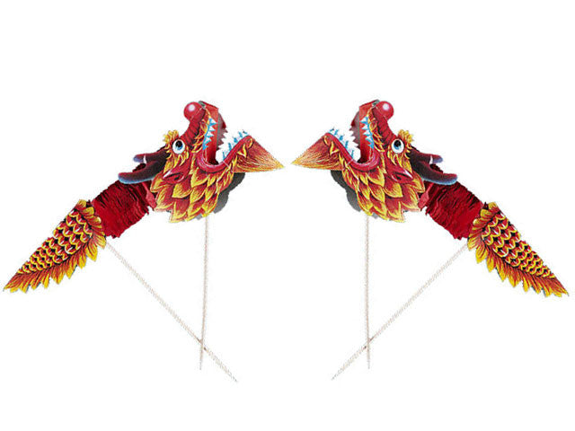Tissue Paper Accordion Dragon Pick - 7""