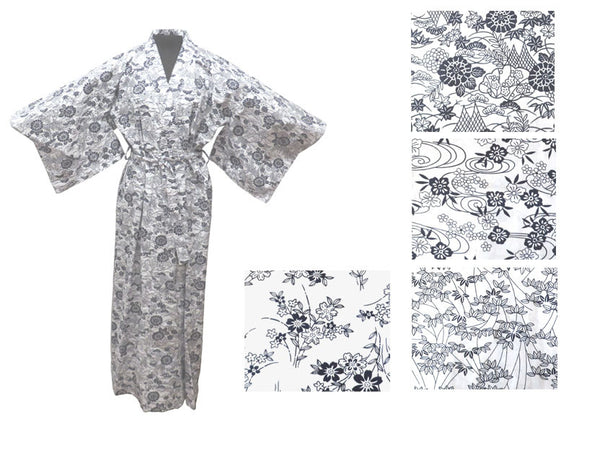 Cotton Floral Print Robe - Ankle Length ( Out of Stock )