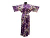 Peacock Floral Print Robe - Ankle Length
