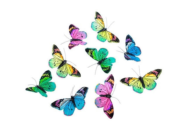 Multicolor Feather Butterfly Garland