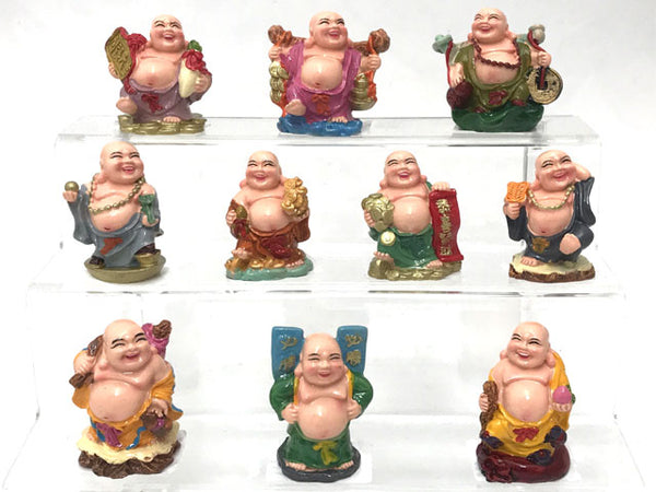 "Colorful Laughing Buddha (2""H)"