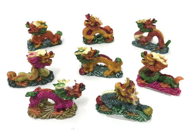 Mini Colorful Dragon Statue