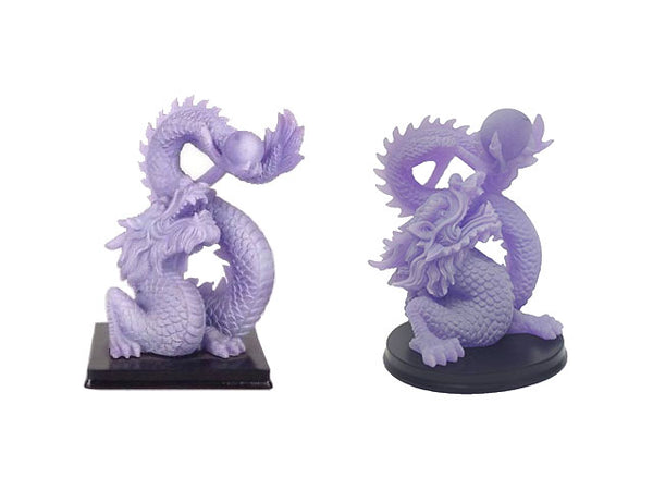 Dragon Playing with Pearl on Wood Stand - Glow in Dark ( Out of Stock- All colors and sizes)