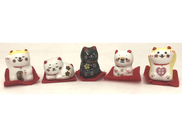 Mini Ceramic Lucky Cat - 1.25""