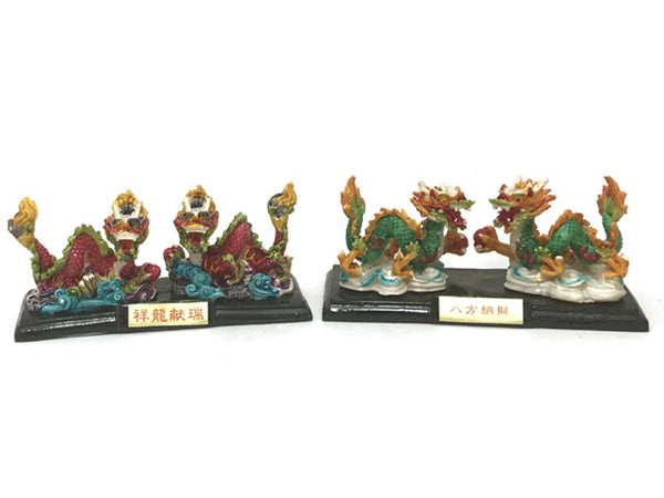 Colorful Double Dragon Statue