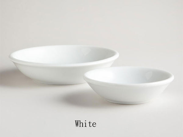 White Color Sauce Dish - Round