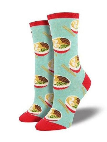 Women's Asian-Themed Novelty Socks: Noodles
