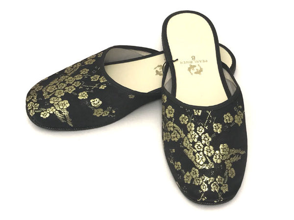 Plum Blossom Rayon Brocade Slipper