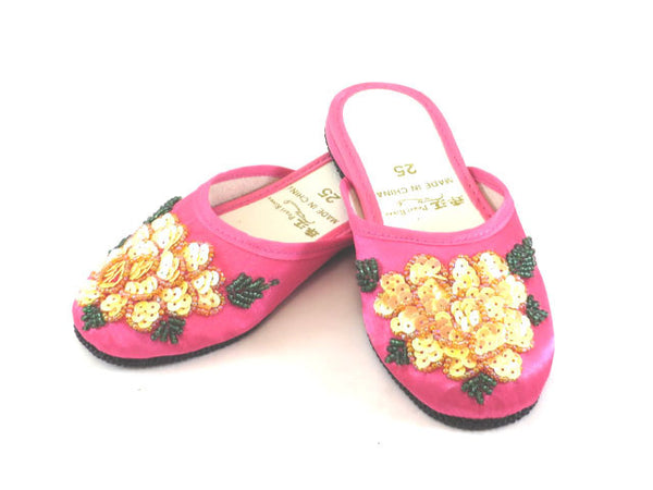 Sequence Flower Satin Slipper - For Children