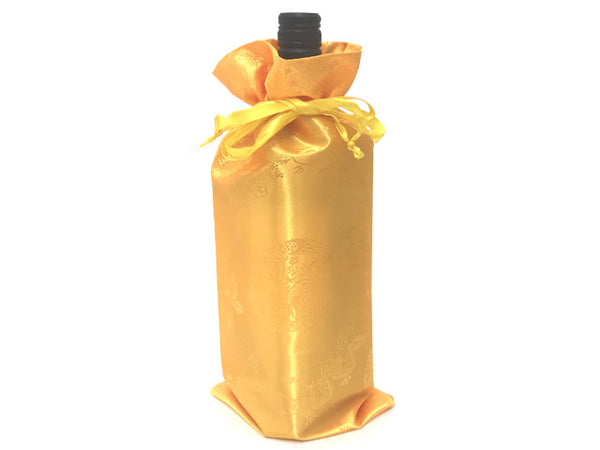 Golden Dragon Brocade Wine Bag