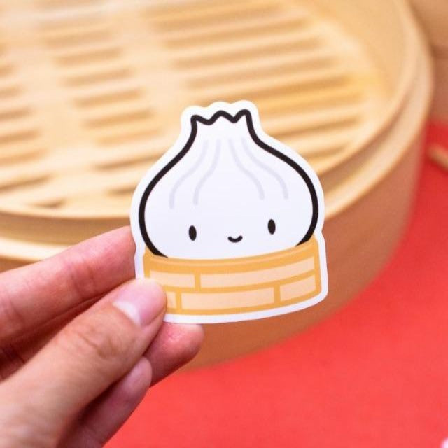 Laptop Dim Sum Sticker: Soupy Xiaolongbao