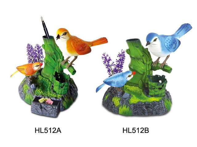 Mother & Chick Sound Bird Pen Holder